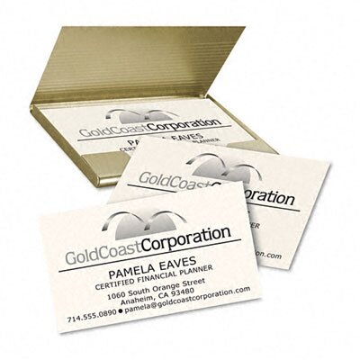Avery Consumer Products Clean Edge Laser Business Cards, 10/Sheet, 200/Pack