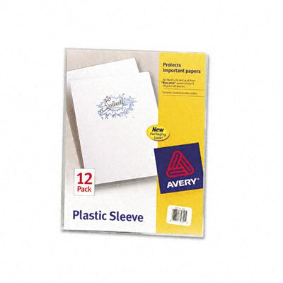 Avery Consumer Products Plastic Sleeves, Letter, Polypropylene, Clear, 12/Pk