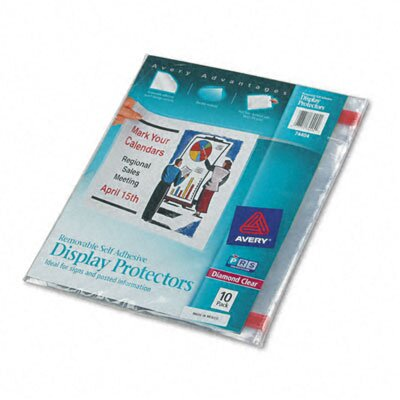 Avery Consumer Products Top-Load Display Sheet Protectors, Letter, 10/pack