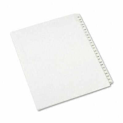 Avery Consumer Products Allstate-Style Letter Size Tab Dividers, 25-Tab, 151-175 Tab Title