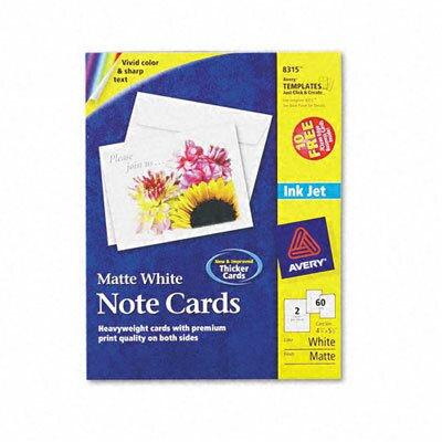 Avery Consumer Products Printer-Compatible Cards with Envelopes (60/Box)