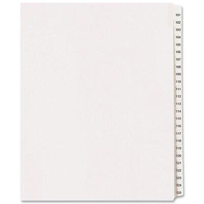 "Avery Consumer Products Index Dividers, Side Tab, 8-1/2""x11"", White"