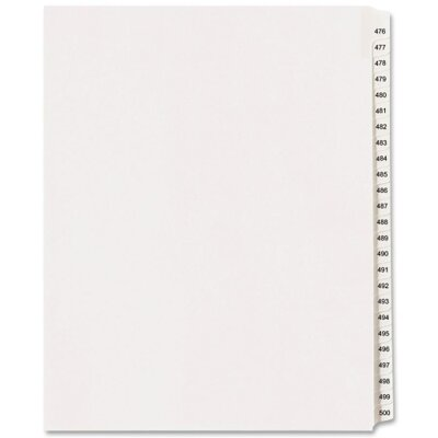 Avery Consumer Products Avery-Style Legal Side Tab Divider, Title: 95, Letter, White, 25/Pack