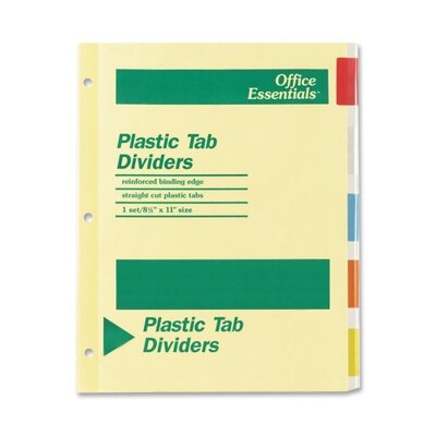 Avery Consumer Products Office Essentials Insertable Tab Index Divider,5-Tab (Set of 5)