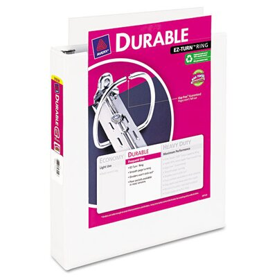 "Avery Consumer Products Durable Vinyl View Binder, 11 x 8-1/2, 1-1/2"" Capacity, White"