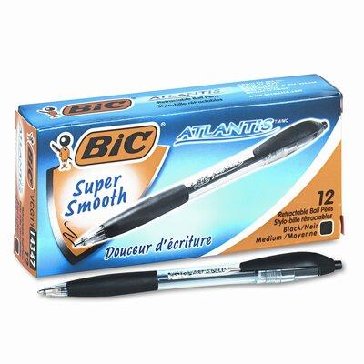 Bic Corporation Medium Atlantis Ballpoint Retractable Ball Pen, 12/Pack