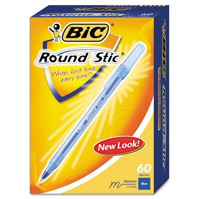 Bic Corporation Medium Round Stic Ballpoint Pen, 1.0 Mm, 60 Per Box