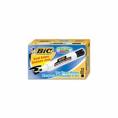 Bic Corporation Great Erase Bold Dry Erase Chisel Tip Markers, 12/Pack
