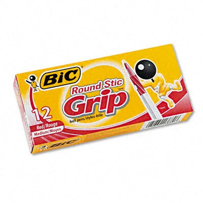 Bic Corporation Medium Ultra Round Stic Grip Ballpoint Stick Pen, 12/Pack