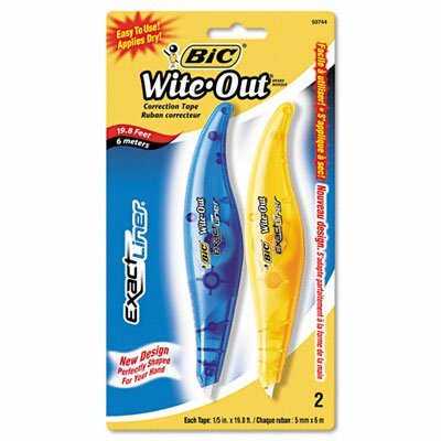 Bic Corporation Wite-Out Exact Liner Correction Tape Pen (2/Pack)