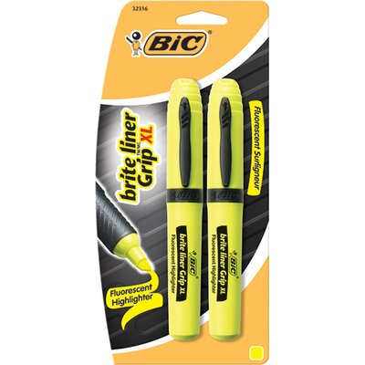 Bic Corporation Brite Liner Tank Style 2pk Yellow