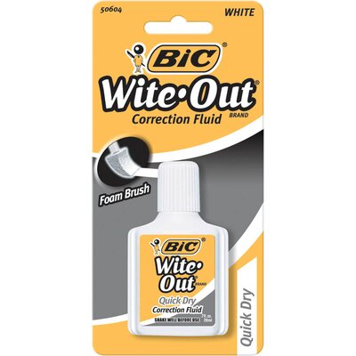 Bic Corporation 0.7 Oz Wite-Out Quick Dry Correction Fluid with Foam