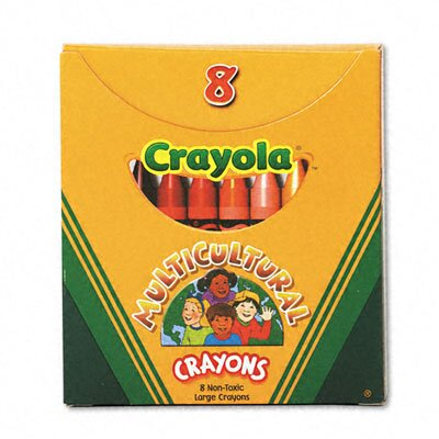 Crayola LLC Multicultural Crayons with 8 Skin Tone Colors / Box