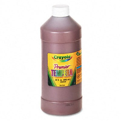 Crayola LLC Premier Tempera Paint, Brown, 32 Ounces