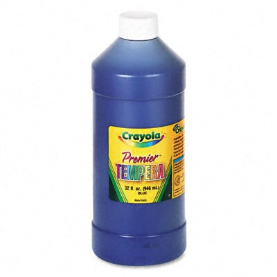 Crayola LLC Premier Tempera Paint, Blue, 32 Ounces