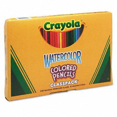 Crayola LLC 3.3 Mm Watercolor Wood Pencil Classpack (240/Box)