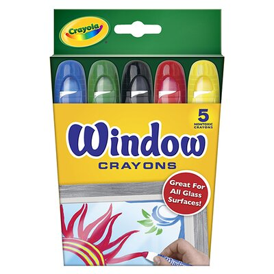 Crayola LLC Crayola Washable Window Crayons