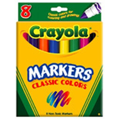 Crayola LLC Original Coloring Markers 8 Color