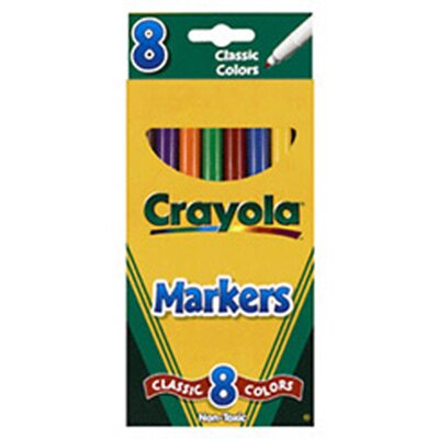 Crayola LLC Original Drawing Markers 8 Color