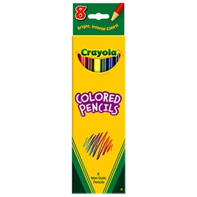 Crayola LLC Colored Pencils-8 Ct Assorted