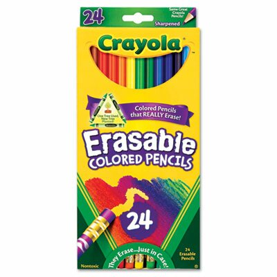 Crayola LLC 3.3 Mm Erasable Colored Woodcase Pencils (24/Set)