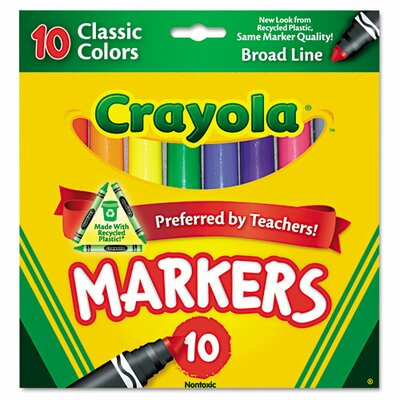 Crayola LLC Non Washable Markers (10 Pack)