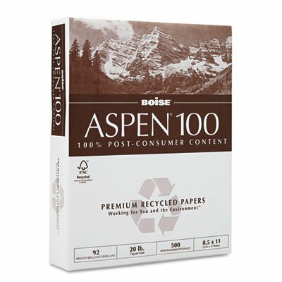 Boise® Aspen 92 Bright 100% Recycled Office Paper (5000/Carton)