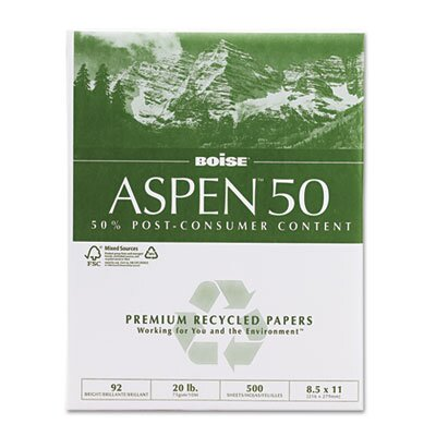 Boise® Aspen 92 Bright 50% Recycled Office Paper (5000/Carton)