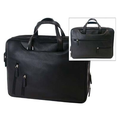 Bond Street, LTD. Tech-Rite Slim Leather Laptop Briefcase