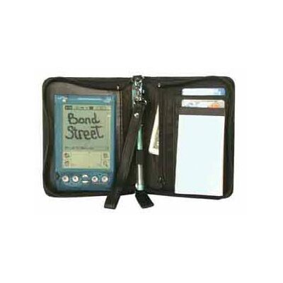 Bond Street, LTD. Luxurious JDD Leather Zippered PDA Case with Jotter