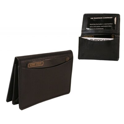Bond Street, LTD. Glazed Cow Hide Leather Business Card Wallet