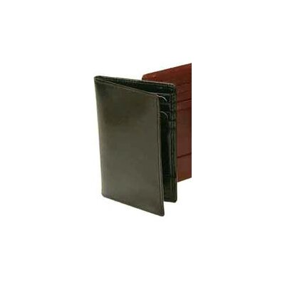 Bond Street, LTD. Hand Stained Italian Leather Business Card Caddy Wallet