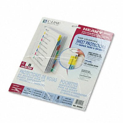 C-Line Products, Inc. Poly Sheet Protectors with Index Tabs (8/Set)
