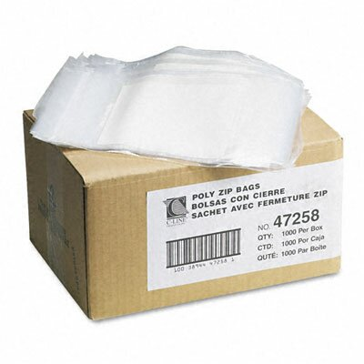 C-Line Products, Inc. Write-On Recloseable Small Parts Bags, Poly, 5 X 8 (1000/Carton)