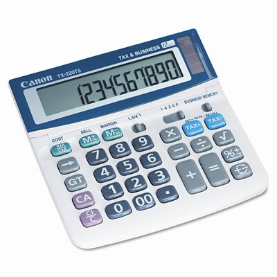 Canon TX220TS Compact Desktop Calculator, 12-Digit LCD