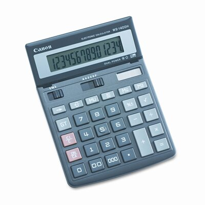Canon WS-1400H Compact Desktop Calculator, 14-Digit LCD