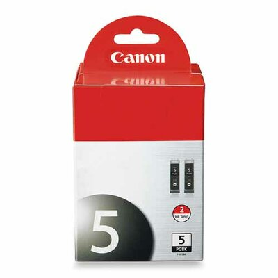 Canon Ink Cartridge, Pigment, 26 ml, 2/PK, Black