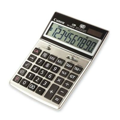 "Canon 10-Digit Desktop Calculator, Dual Power, 6-3/4""x4-5/8""x1-3/8"""