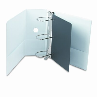 "Cardinal Brands, Inc Vinyl Clearvue Xtravalue Slant D-Ring Presentation Binder, 5"" Capacity"