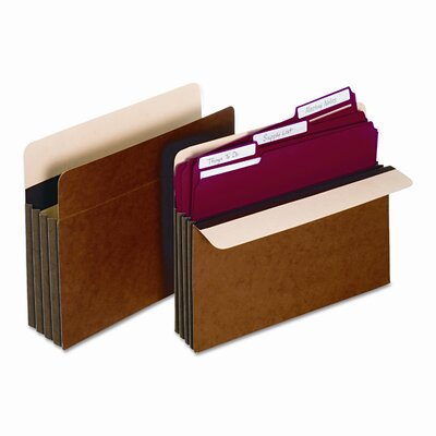 "Cardinal Brands, Inc Globe-Weis 5.25"" Expansion Accordion Pocket, Straight, Redrope, Letter (10/Box)"