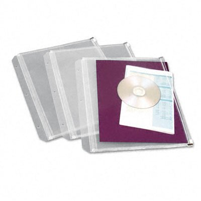 Cardinal Brands, Inc Zippered Binder Pockets, 8.5 x 11 (3 Pockets/Pack)