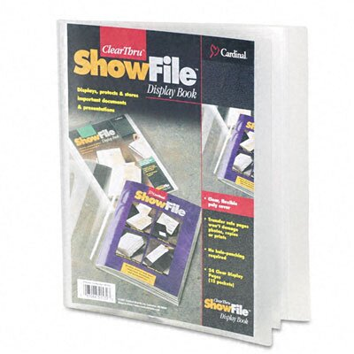 Cardinal Brands, Inc Clearthru Showfile Presentation Book, 12 Letter-Size Sleeves