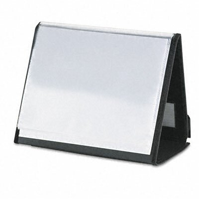 Cardinal Brands, Inc ShowFile Horizontal Display Easel with 20 Letter-Size Sleeves, Black
