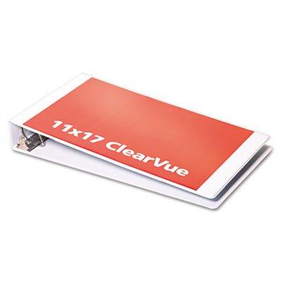 "Cardinal Brands, Inc Clearvue Slant-D Ring Binder, 2"" Capacity, 11 x 17"