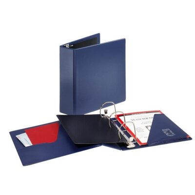 "Cardinal Brands, Inc D Ring Binder, 3"" Cap, 11""x8-1/2"", Navy"