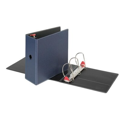 "Cardinal Brands, Inc Locking D-Ring Binder, 5"" Cap, 11""x8-1/2"", Dark Blue"