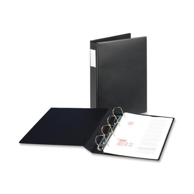 "Cardinal Brands, Inc Slant-D Legal Size Binders, 4 Ring, 1"" Capacity, 14""x8-1/2"", Black"