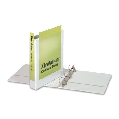 "Cardinal Brands, Inc Clear View Slant-D Ring Binders, 1-1/2"" Capacity, White"