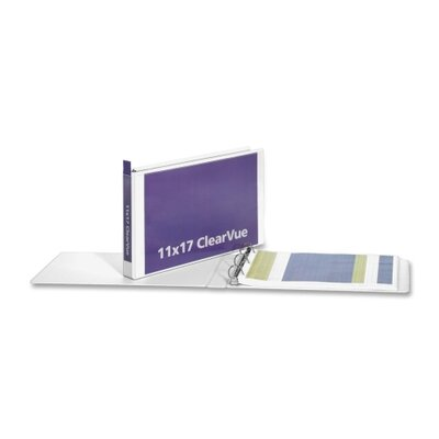 "Cardinal Brands, Inc Clearvue Slant-D Ring Binder, 2"" Capacity, 11 x 17"