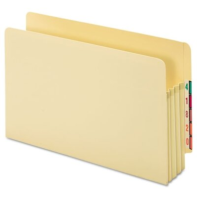 "Cardinal Brands, Inc Globe-Weis 3.5"" Expanding Standard File Pocket, End Tab, Manila, Legal"